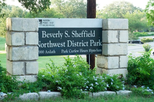 Northwest District Park Sign